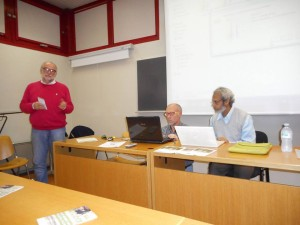 Deb giving a talk for students and scholars of the departments of Biology and  Biotechnology, Parma University.